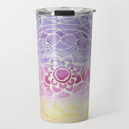 Rainbow Watercolor Mandala Travel Mug