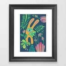 Pensive Rabbit Framed Art Print