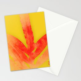 Millenial Yellow and Red Fern Stationery Cards
