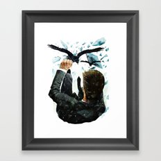 Falling To The Crows Framed Art Print
