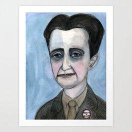 "George Orwell Portrait, ""The Road to Orwellian"" Art Print"
