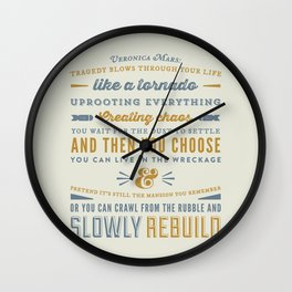 Tragedy - Veronica Mars Wall Clock
