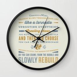 Tragedy - Veronica Mars Wall Clock