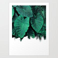 Painting on Jungle Art Print
