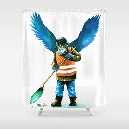 street sweeper Shower Curtain