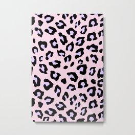Leopard Print - Lavender Blush Metal Print