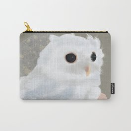 White Owl and Geometry Carry-All Pouch
