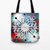 snowflake Tote Bags featuring Snowflake by Sarah Maurer