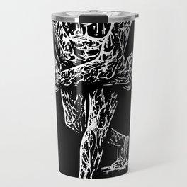 Drippy Passion - black & white art print Travel Mug