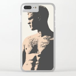 No. 13 - Male Figure Illustration Clear iPhone Case