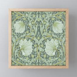 William Morris, Art nouveau pattern, beautiful art work, fabric pattern, belle époque,victorian,flor Framed Mini Art Print