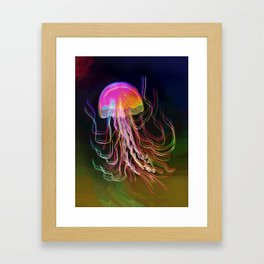 Jellyfish Smell of Summer Framed Art Print