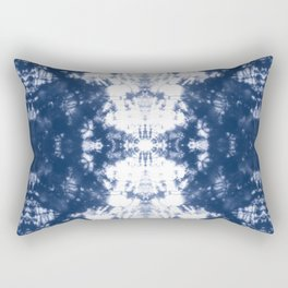 Shibori 6 Indigo Blue Rectangular Pillow