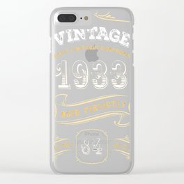 84th-Birthday-Gift-Gold-Vintage-1933-Aged-Perfectly Clear iPhone Case