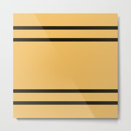 Hufflepuff Stripes Metal Print