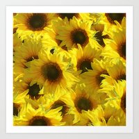 sunflowers Art Prints featuring Sunflowers by LLL Creations