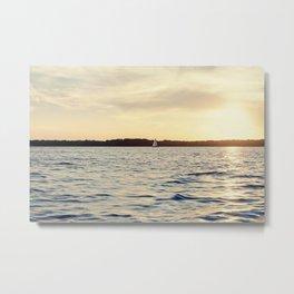 Sailing on the Lake Metal Print