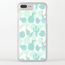 Sweet Baby Cacti Clear iPhone Case