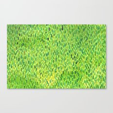 Watercolor Grass Pattern Green by Robayre Canvas Print