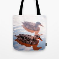 duck Tote Bags featuring Duck by DistinctyDesign