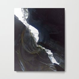 In the depths of Maligne Canyon looking up - Canada Metal Print