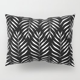 Black and white Palms Pillow Sham