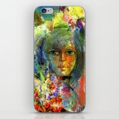 Girl with fruits. iPhone & iPod Skin