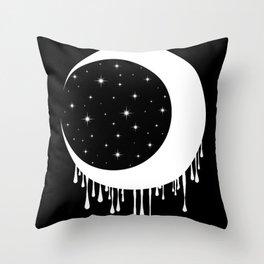 Invert Moon Throw Pillow