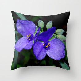 Tradescantia - Spiderwort Throw Pillow