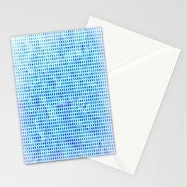 Pale Blue Dots Pattern Stationery Cards