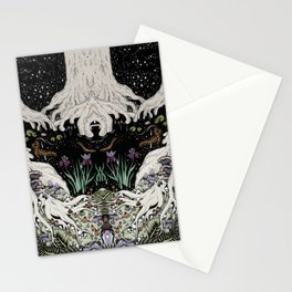 Starry Forest Stationery Cards