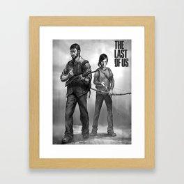 The Last of Us Joel and Ellie Framed Art Print