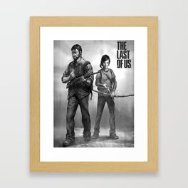 The Last of Us Joel and Ellie Framed Art Print