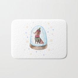 Dog Snow Globe (1) Bath Mat