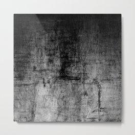 Silver Textured Concrete Pattern Metal Print