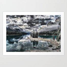 Winter On The Mountain Art Print
