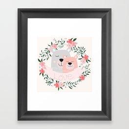 Beary Much Love You Framed Art Print