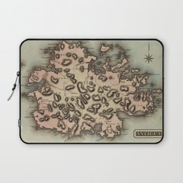 Vintage Map of Antigua (1823) Laptop Sleeve