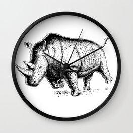 Running Rhino Wall Clock