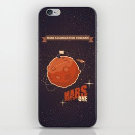 Mars colonization project iPhone Skin