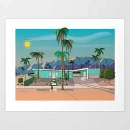 Palm Springs Vacation Home Art Print