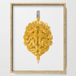 Pencil Brain Serving Tray
