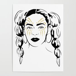 Queen B Tribe Poster