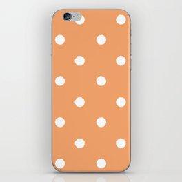Tangerine Dotty iPhone Skin