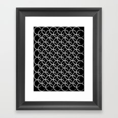 Brushed Circles Inverse Framed Art Print