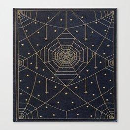 Spider Silk Stars Book Canvas Print