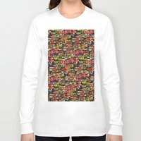 brazil Long Sleeve T-shirts featuring Brazil by India Panzid