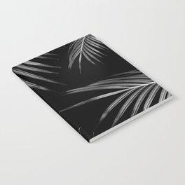 Silver Gray Black Palm Leaves Dream #1 #tropical #decor #art #society6 Notebook