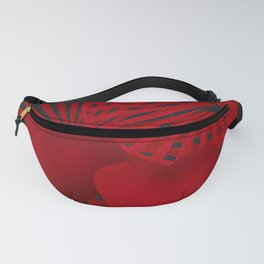 Love. The loving hearts . The red background . Fanny Pack
