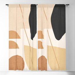 Minimal Abstract Shapes 42 Blackout Curtain